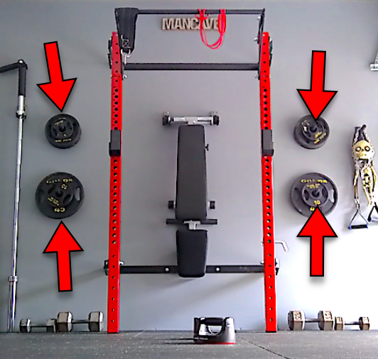 Wall Mounted Weight Plate Rack Diy Bumper Plate Storage